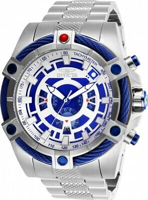 Invicta 27228 Star Wars Men's 52mm Chronograph Stainless Steel Blue/Silver Dial