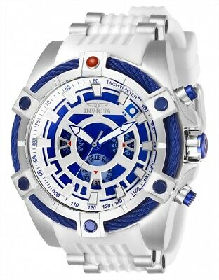 Invicta 27232 Star Wars Men's 52mm Chronograph Stainless Steel Blue/Silver Dial
