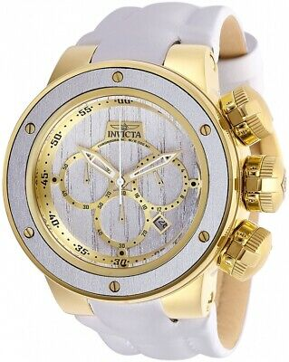 Invicta 28257 Subaqua Men's 52mm Chronograph Gold-Tone Silver Wood Dial Watch