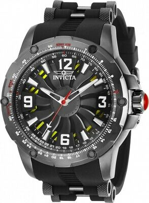 Invicta 28280 S1 Rally Turbine Men's 52mm Automatic Gunmetal Tone Black Rubber