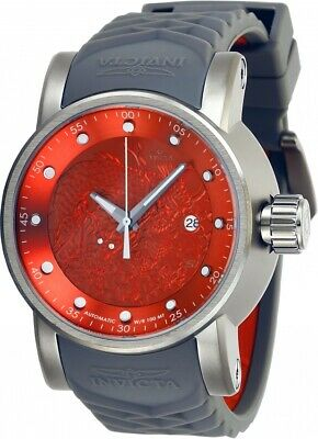 Invicta 28184 S1 Rally Men's 48mm Automatic Titanium-Tone Red Dial Watch