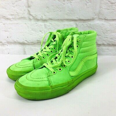 176c2465fe3aac VANS SK8-Hi Mono Canvas Neon Green Shoes Sneakers Men s Sz 6.5M Women s 8M
