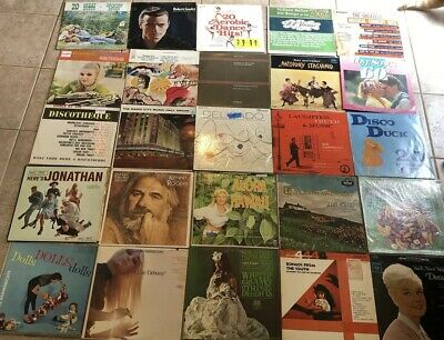Vintage Vinyl Records LP Albums 50s 60s 70s 80s Lot Of 25 Very Cool Art Covers