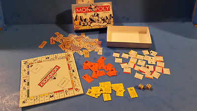Barbie Doll 1:6  Handmade Miniature Board Game MONOPOLY INCLUDES DICE!!!