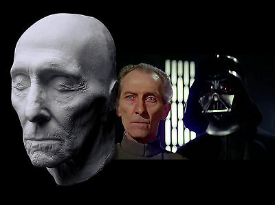 Peter Cushing Life Mask Plaster Lifecast Bust Star Wars Doctor Who Hammer Horror