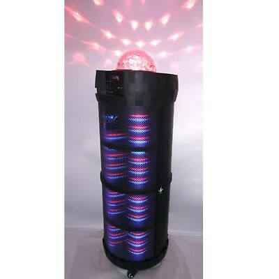 Portable Bluetooth Speaker & Microphone PA  Karaoke System w/ LED Party Lights