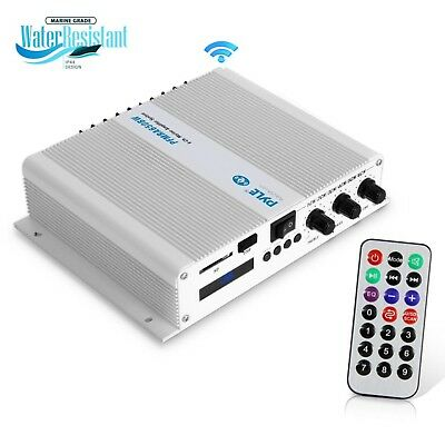Pyle 6-Channel Bluetooth 600W Audio Marine Compact Amplifier, Receiver System