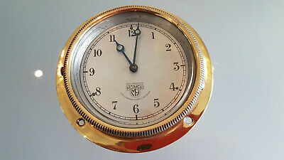 Antique Smiths Solid Brass Automobile Clock. This Is A Beauty, And Working Order