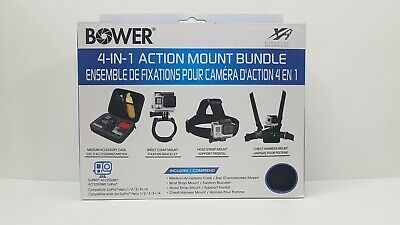 Bower Case 4 In 1 Action Mount Bundle Accessories For GoPro