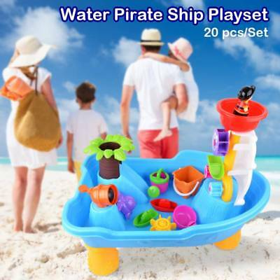 Kids Pirate Ship Sand And Water Table Sandpit Beach Garden Boy Play Toy Set