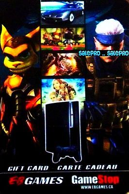 Eb Games Gamestop Ratchet & Clank Gun Action Bilingual Collectible Gift Card