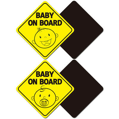 CHILDREN ON BOARD Magnetic Warning Safety Sign Sticker Vinyl Car Window Decal