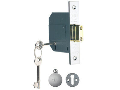Yale PM562CH25 Hi-Security BS 5 Lever Mortice Dead Lock 67mm Polish Chrome