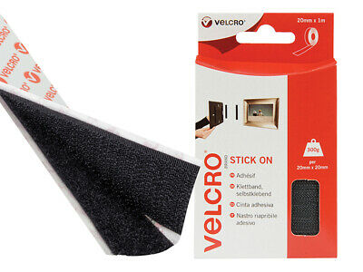 VELCRO Brand VELCRO Brand Stick On Tape 20mm x 1m Black VEL60211