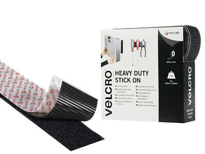 VELCRO Brand VELCRO Brand Heavy-Duty Stick On Tape 50mm x 5m Black VEL60243