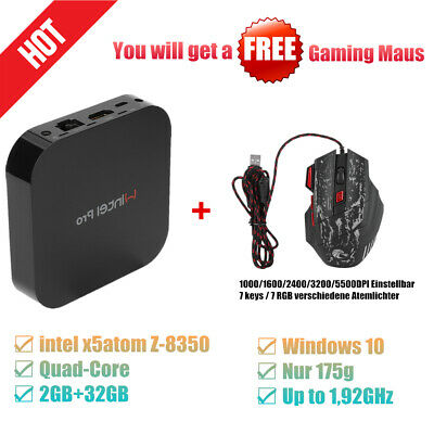 Free Gaming Maus!!! Mini Pc | 2+32G | Intel X5-Z8350 | Wifi | Win10 | Quad Core