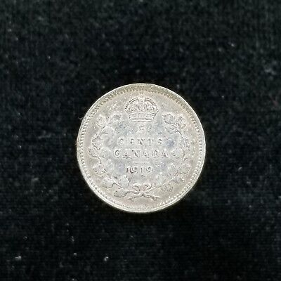 Canada Silver 5 Cents 1919