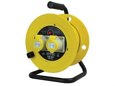 Faithfull Power Plus Cable Reel 25m 16 amp 1.5mm Cable 110V FPPCR25ML