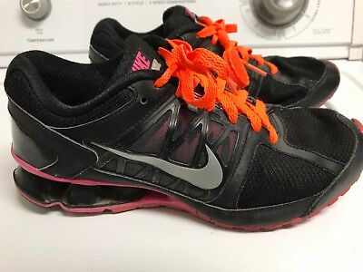 dbed56ce8d35a8 Nike Womens Black Pink Reax Run 6 Running Trainer Shoes 472647-002 size 8 M