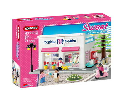 Oxford Block Town Baskin Robbins BR Sweet Ice Cream Shop HS33913 717pcs