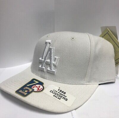 9d03bea43d1 AMERICAN NEEDLE LOS Angeles Dodgers White 1958 Fitted Hat size  7 ...