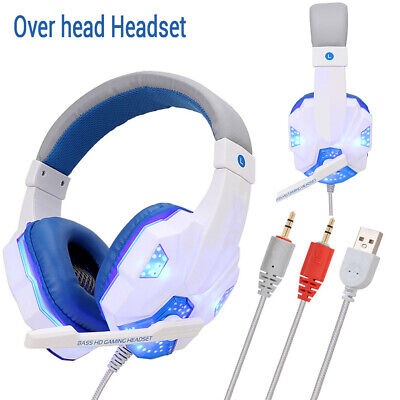 3.5mm Soyto Gaming Headset MIC LED Headphones for PC Mac Laptop PS4 Xbox One 360