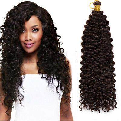 90g/Bundle Natural Black As Human Crochet Braids Hair Extensions Curly Wave US
