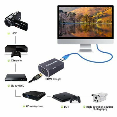 Free Drive USB3.0 Capture HDMI To USB Capture HD Video Capture Box Dongle lot CD