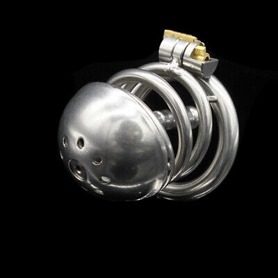 New Stainless Steel Cage Urethral Tube Male Chastity Device A219
