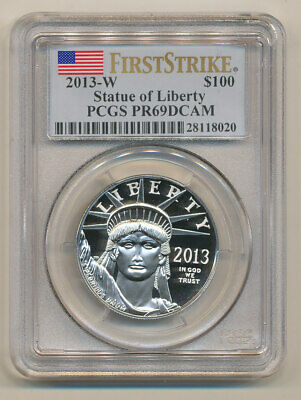 2013-W $100 Platinum Eagle PCGS PR69 FIRST STRIKE DEEP Cameo  one ounce 1oz FS