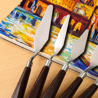 5PC Stainless Steel Palette Knife Scraper Spatula Artist Oil Painting AU