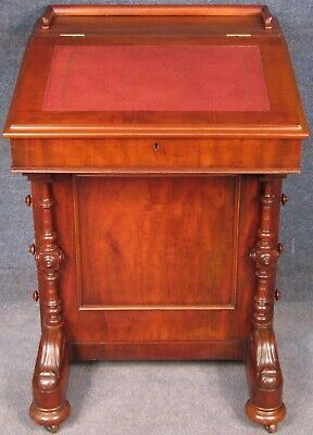 James Shoolbred And Co Victorian Davenport Desk With Leather Writing Slope