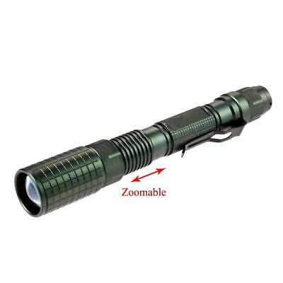 bronze 8000LM Zoomable   T6 LED Flashlight Focus Torch Lamp Light BE