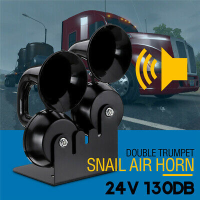 Universel 12V 130dB Klaxon Air Horn Klaxon Escargot Avertisseur Camion Voiture