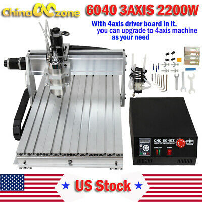 CNC 6040 2200W 3Axis Mach3 USB Router Engraving Cutting Drilling DIY Machine US