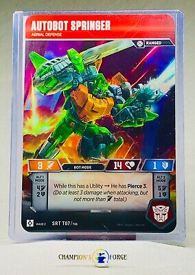 Transformers TCG Rise of the Combiners Autobot Springer #SRT T07 Character Card