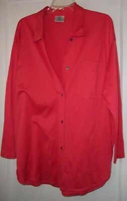 Laura Ashley Coral Pink Bright Cotton Shirt Blouse NWOT Large One Size