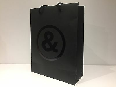 Used - BELL & ROSS - bolsa Negra Papel - Black paper bag  32 x 25 x 10 cm