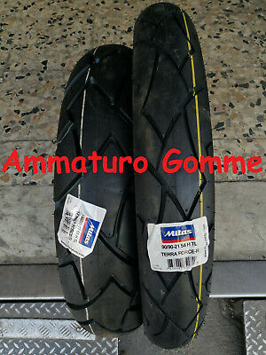 New Coppia Gomme 90/90 21 54H 130/80 17 65H Dot 2019!! Mitas Terra Force Honda