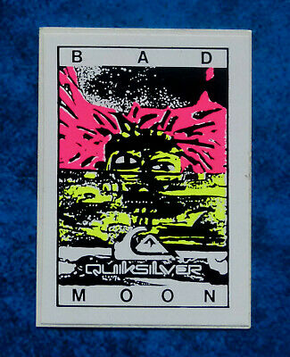 QUIKSILVER - BAD MOON  .. Original Vintage  1980,s Surfing sticker