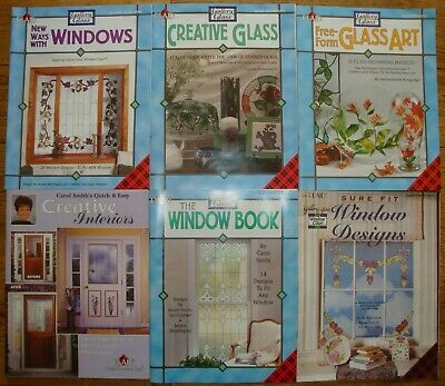 SELECTION OF 6 x PLAID GALLERY ART GLASS MAGAZINES IN VERY GOOD CONDITION