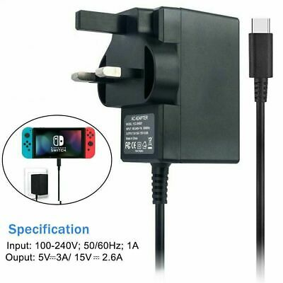 Replacement CE Mains Charger Power Adaptor For Nintendo Switch USB Type-C UK