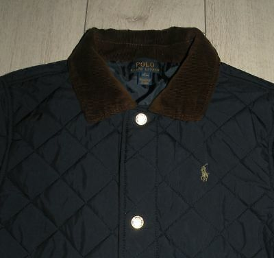 """Polo Ralph Lauren """"L"""" 14/16 YRS Boys Navy Quilted Jacket"""