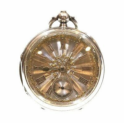 1901 Open Face Pocket Watch Silver Fusee Lever
