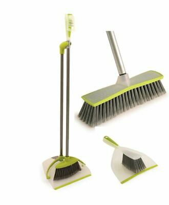 Home Kitchen Cleaning Set Indoor Soft Sweeping Broom Long Handled Dustpan Brush