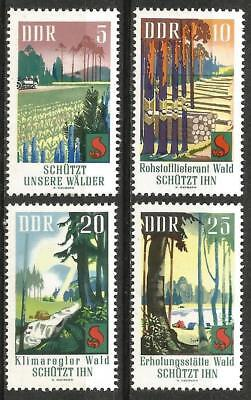 Germany (East) DDR GDR 1969 MNH - Nature Forest Fire Prevention