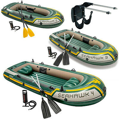 Intex Seahawk Inflatable Boat Set with Oars and Pump - 2/3/4 Person / Motor Kit