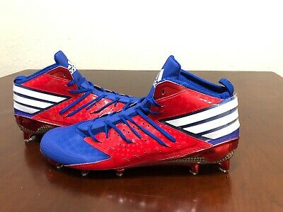 974d8d20e75 Adidas Freak X Kevlar Mid Football Cleats Size 15 Mens Red Blue White Chrome