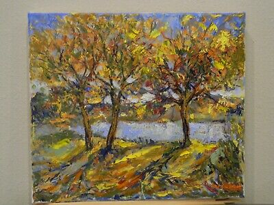 "Impressionism Oil Fine Art. Backlighting Original. Ducuron artist 14""x16""."