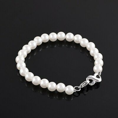 Pearl Infinity Charm Cremation Urn Bracelet Ashes Jewellery Keepsake Memorial